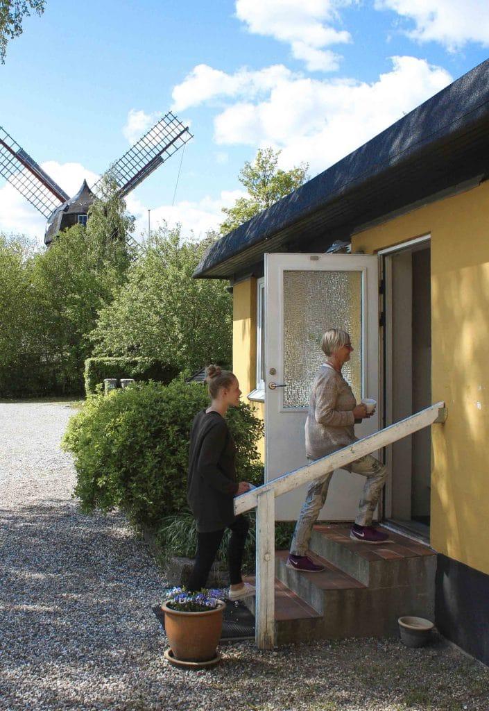 Indgang til bosted i Randers nær Midtjylland